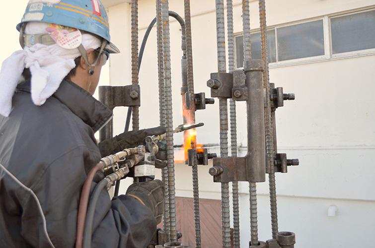 ガス圧接工事イメージ2